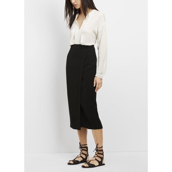998ff83ee Vince Skirts | New Sz 6 Crepe Midi Long Pencil Skirt Black | Poshmark
